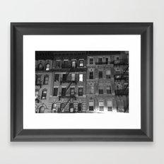 Hell's Kitchen Buildings Facade Framed Art Print