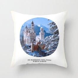 008: Neuschwanstein Castle Throw Pillow