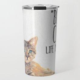 Cat Quote By Edward Gorey Travel Mug
