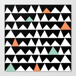Tribal Triangles, Geometric Aztec Andes Pattern Canvas Print