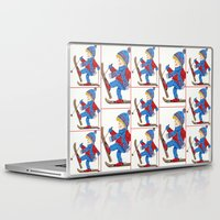 ski Laptop & iPad Skins featuring Ski Boy by iCraftCafé