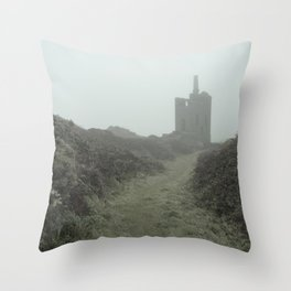 Higher Ball mine in the mist Throw Pillow