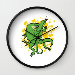 "Funny Adult Humor Shirt For Adults ""Lizard"" Reptile Animal Animals T-shirt Design Naughty Fuck Sex Wall Clock"