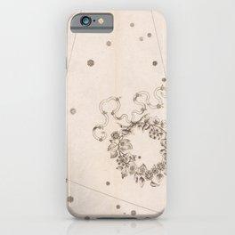 Johann Bayer - Uranometria / Measuring the Heavens (1661) - 06 Northern Crown iPhone Case
