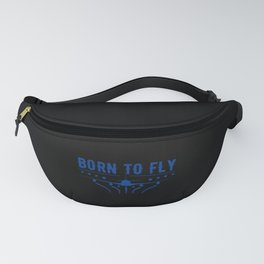 Born To Fly Airplane Pilot Flying Fanny Pack