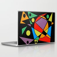 kandinsky Laptop & iPad Skins featuring Abstract #130 by Ron Trickett