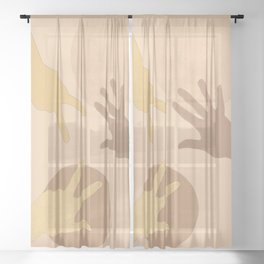To play together Sheer Curtain