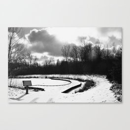 Dark Skies Pond Canvas Print