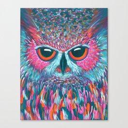 color pop owl Canvas Print