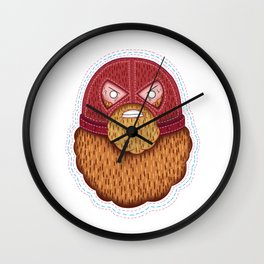 Jugger Beard Wall Clock