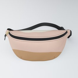 Nordic abstract art in earthy hues Fanny Pack