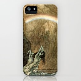 """Arthur Rackham Watercolor for Wagner's """"The Ring"""" iPhone Case"""