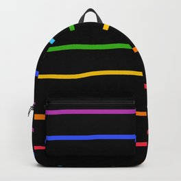 Classic Abstract Minimal LGBT Rainbow Retro Summer Style Stripes #3 Backpack