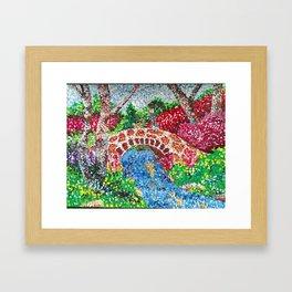 Pointalism Pond Framed Art Print