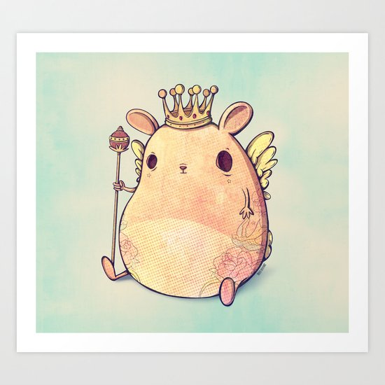 Prince Angel of Bunnyland Art Print
