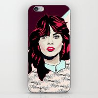 80s iPhone & iPod Skins featuring 80s Pink by Anna McKay