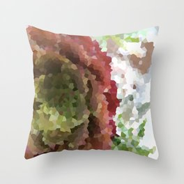 Crystallized Red Succulent Throw Pillow