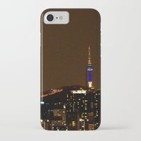 seoul iPhone & iPod Cases featuring Seoul Night by Zayda Barros