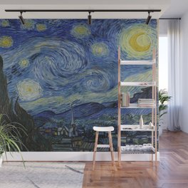 Starry Night by Dutch Post-Impressionist Painter Vincent Van Gogh Wall Mural