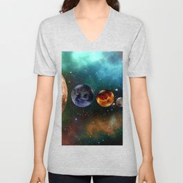 God and the Cosmos by GEN Z Unisex V-Neck