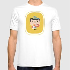Ice Cream Please (Yellow Tales Series #2) White Mens Fitted Tee MEDIUM