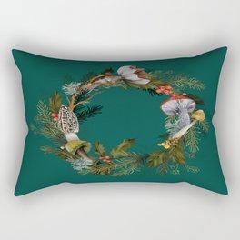 Mushroom Forest Wreath Rectangular Pillow