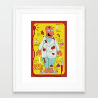 zoidberg Framed Art Prints featuring Dr. Zoidberg's Useless Organs  by Josh Ln