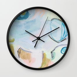 Hands On // Blue original abstract  Wall Clock
