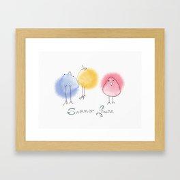 Summer Fauna Framed Art Print