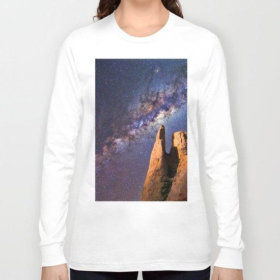 Night sky iii - galaxy Long Sleeve T-shirt