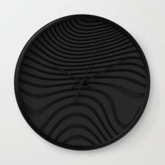 Organic Abstract 02 BLACK Wall Clock