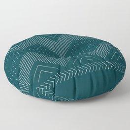 Teal Geo Floor Pillow