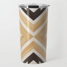 Southwestern Minimalism Reclaimed Wood Pattern Travel Mug