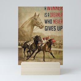 Animals World Seabiscuit And War Admiral Horse Racing Mini Art Print