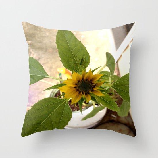 Flower Spider Throw Pillow
