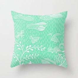 Carnival Glass Land Life Stripes No. 2 Throw Pillow
