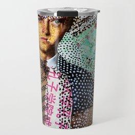 Man and Machine - Magazine Collage Painting Travel Mug