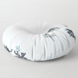 Tranquillity - aqua moon Floor Pillow