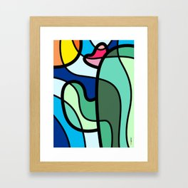 Lonely Cactus Framed Art Print