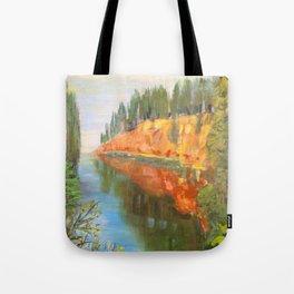 Salaca River in Northern Latvia Tote Bag