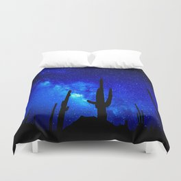 The Milky Way Blue Duvet Cover