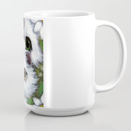 SPRING WHITE PERSIAN KITTEENS CATS ODD EYES & FLOWERS Coffee Mug