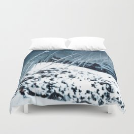 NATURE'S WONDER #1 - Icicles up in the mountains #art #society6 Duvet Cover