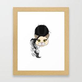 Amy Cat Head Framed Art Print