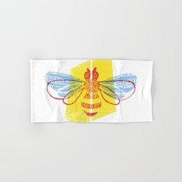 Be Safe - Save Bees linocut Hand & Bath Towel