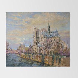 Spring in Paris Throw Blanket