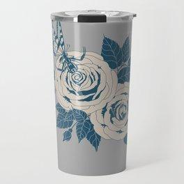 Spider Rose: Cool Gray Travel Mug