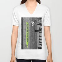 street V-neck T-shirts featuring street by habish