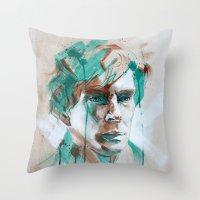 sherlock Throw Pillows featuring Sherlock by Dan Olivier-Argyle