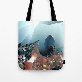 Hiding in a Fantasy Waterworld -- Fractal art by Twigisle at Society6 Tote Bag